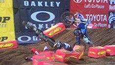 CRASH: Josh Hansen Lands on AJ Catanzaro in Oakland
