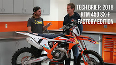 Walk-Around: Tech Brief on the 2018 KTM 450 SX-F Factory Edition