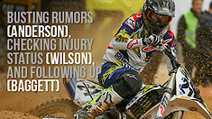 Busting Rumors (Anderson), Checking Injury Status (Wilson), and Following Up (Baggett)