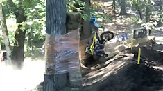 CRASH: Justin Hill Headbutts a Tree - Washougal