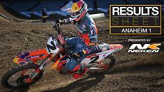 Results Sheet: 2019 Anaheim 1 Supercross
