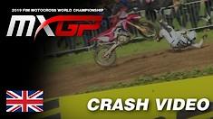CRASH: Tim Gajser - 2019 MXGP of Great Britain