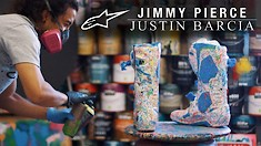 A Look at Justin Barcia's Custom MX Gear Designed by Jimmy Pierce