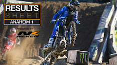Results Sheet: Anaheim 1 Supercross
