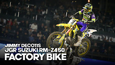 FACTORY BIKE: Jimmy Decotis Suzuki RM-Z450