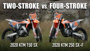 Two-Stroke vs. Four-Stroke: KTM 150 SX vs. KTM 250 SX-F