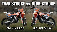 Two-Stroke vs. Four-Stroke: KTM 150 SX vs. KTM 250 SX-F