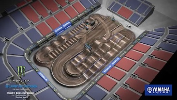 Salt Lake City 1 Supercross - Animated Track Map