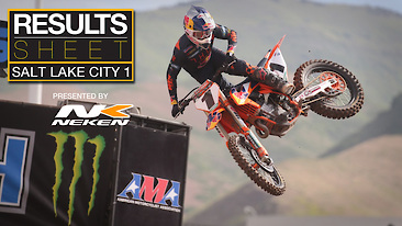 Results Sheet: Salt Lake City 1 Supercross