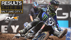 Results Sheet: Salt Lake City 5 Supercross