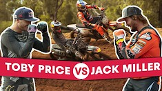 Toby Price and Jack Miller Go Head-to-Head on a Motocross Track