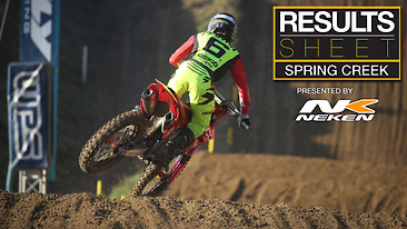 Results Sheet: Spring Creek National