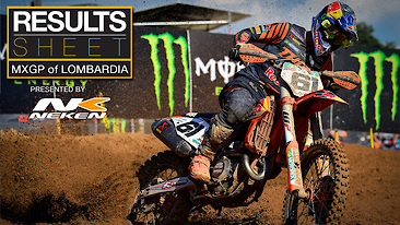 Results Sheet: MXGP of Lombardia