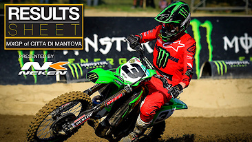 Results Sheet: MXGP of Città di Mantova