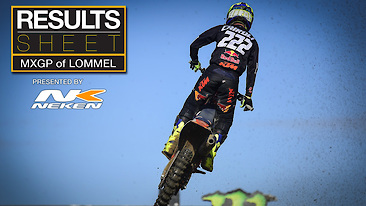 Results Sheet: MXGP of Lommel