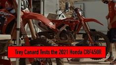 Trey Canard Tests the 2021 Honda CRF450R