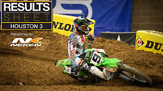 Results Sheet: Houston 3 Supercross