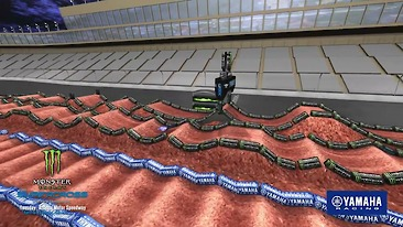 Animated Track Map: Atlanta 2 Supercross