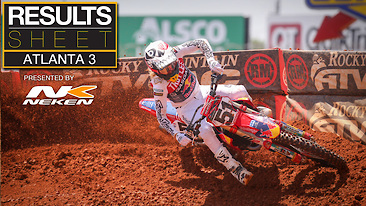 Results Sheet: Atlanta 3 Supercross