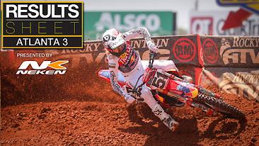 Results Sheet: Atlanta 3 Supercross