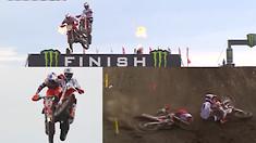 CRASH: Jorge Prado Collides with Jeffrey Herlings at the Finish!