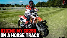 Tommy Searle's Vlog - Racing Dirt Bikes on a Horse Track
