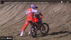 CRASH! Takes Herlings Out Of MXGP Race 1 | MXGP of Pietramurata