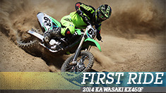 First Ride: 2014 Kawasaki KX450F