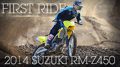 First Ride: 2014 Suzuki RM-Z450