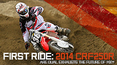2014 CRF250R: Are Dual Exhausts the Future?