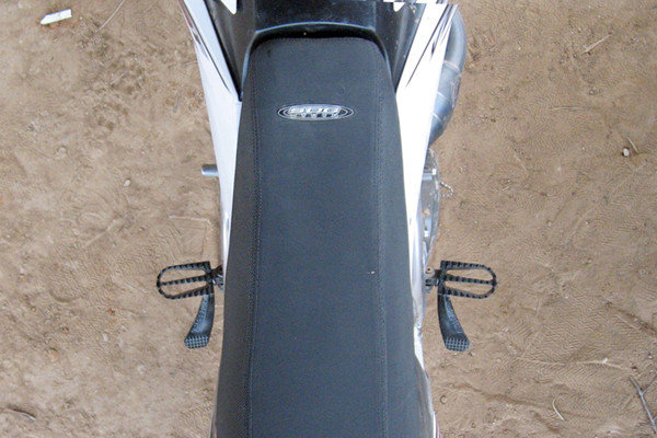 Looking down on the bike
