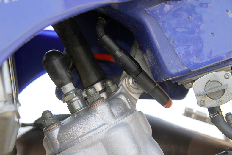 The iBooster installed on a YZ125.