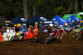 Josh Cachia was second in MX2 for JDR/KTM Factory Racing at Appin. Image: Simon Makker/Makkreative.com.