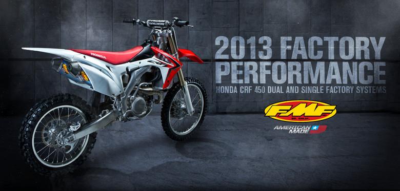 FMF 2013 Honda CRF450 Exhaust Systems