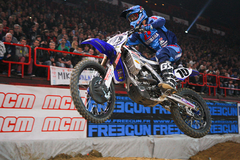 Justin Brayton (Toyota/JGRMX/Yamaha) got the night started with a win after working past Jason Clermont, Fabien Izoird, and Cedric Soubeyras.