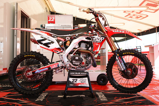 Reedy's bike at the Monster Energy Cup. Click any image in the article for a larger version.