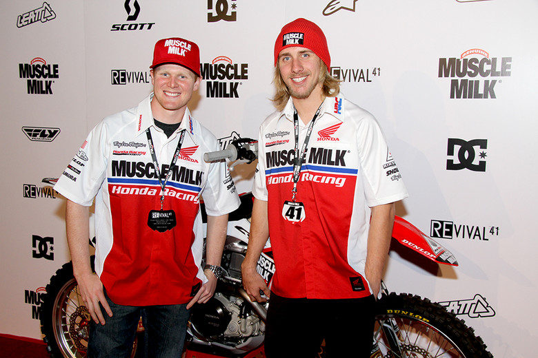 The majority of the Honda Muscle Milk squad came out to support Trey's new movie, including his teammate, Justin Barcia.