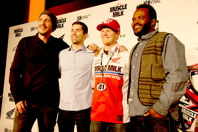 The folks that made the magic happen (from left to right) Jason Bergh, Shane McCassey, Trey Canard, Sal Masekela.