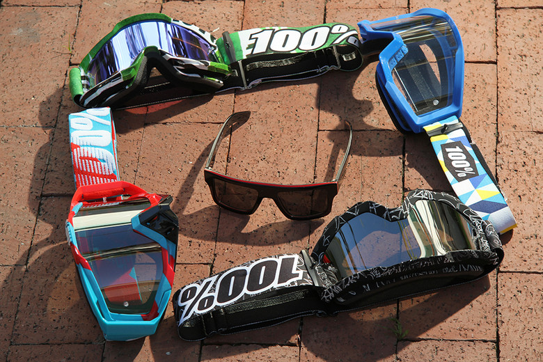 100% now offers three different goggle frames and has also added sunglasses to their lineup.