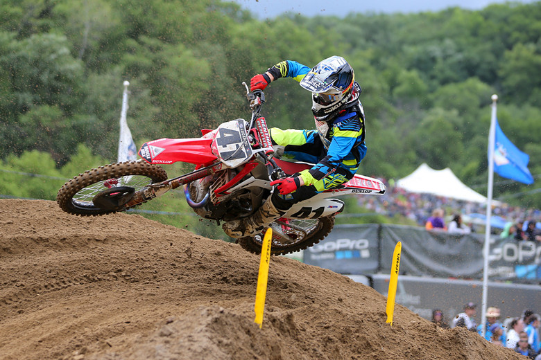Trey Canard (Team Honda Muscle Milk) was fired up and scored a pair of seconds, and battled in both motos for the lead.