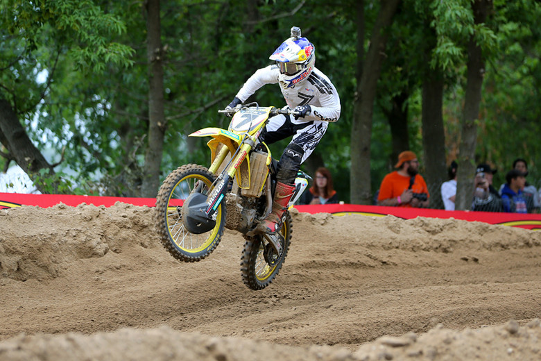 A 1-3 moto tally was good to give James Stewart (Yoshimura Suzuki Factory Racing) the 450 overall at Spring Creek.