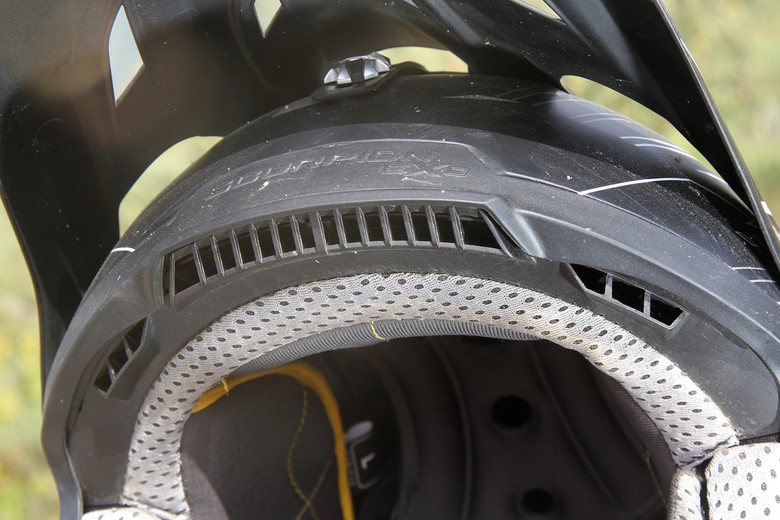 Intake vents on the front of the helmet paired with exhaust vents at the rear are limited by the amount of ventilation in the EPS foam liner.