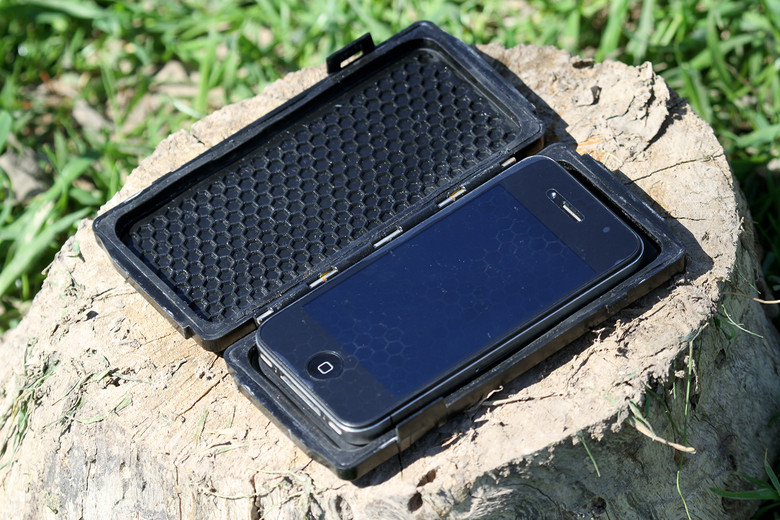 The case liner is a gel-like material that keep absorbs the smaller vibrations from your motorcycle and keeps the phone encased in a suspension-like layer.