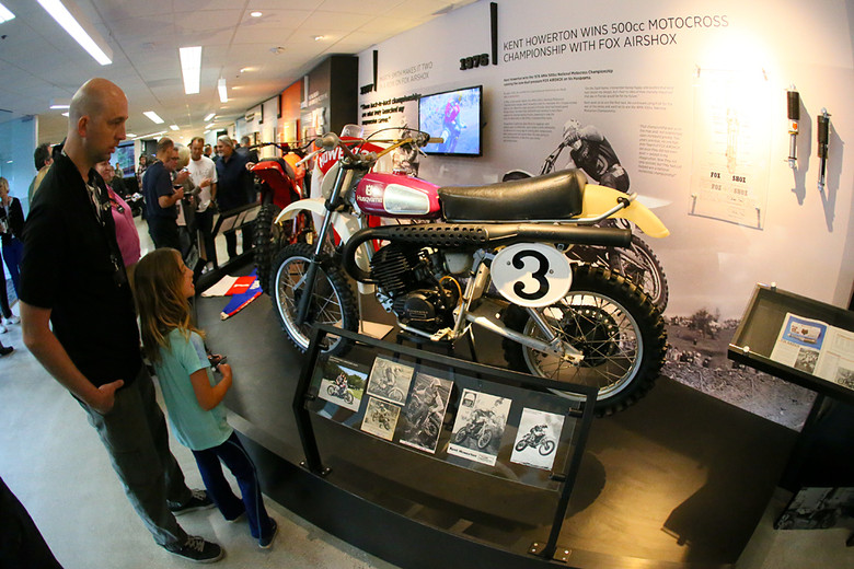 Kent Howerton won the first championship for Fox Racing Shox aboard his Husqvarna. It was cool to see the authentic bike in the museum. Joe Newmann (Newmann in the Vital MX Forums) had quite a bit to do with dialing in the bikes for the museum.