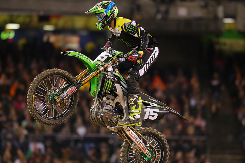 2. Dean Wilson (Monster Energy Pro Circuit Kawasaki) has had a rough start to his season, and during laps 7-14 it looked like he was going to turn things around with a win. A second isn't bad, but it's not what he and the team want.
