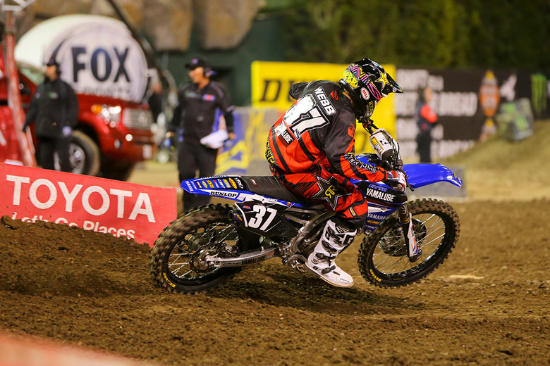 3. Cooper Webb (Yamalube Star Racing Yamaha) scored another podium in his rookie season after starting out in sixth place. He's fourth in the title chase behind Anderson/Seely (who are tied), and Wilson.