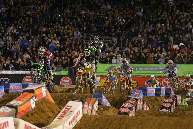 Stewart and Villopoto were aggressive early, going back and forth.