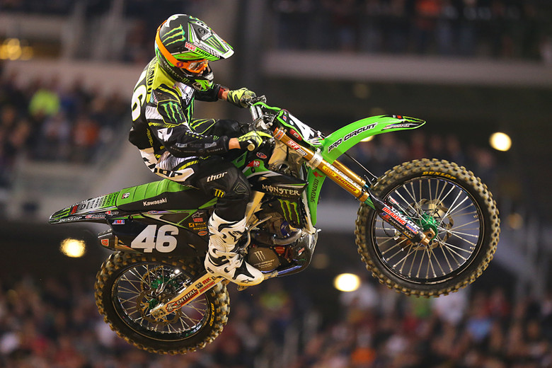 1. Adam Cianciarulo took over the lead in the 250 main after his Monster Energy Pro Circuit Kawasaki teammate, Martin Davalos, went down on lap four.