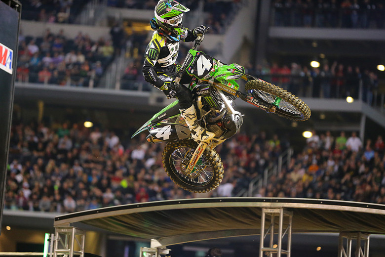 2. Blake Baggett kept the pressure on Cianciarulo throughout the main, short of maybe the last few laps after lapped riders came into play. Considering that he'd only had a couple weeks to ride coming into Dallas after recovering from pre-season injuries, he rode amazingly well.
