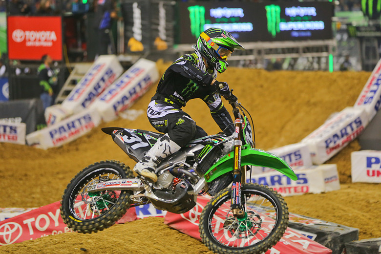 3. Martin Davalos recovered to pick up third, and help complete a Monster Energy Pro Circuit Kawasaki sweep of the 250 podium.